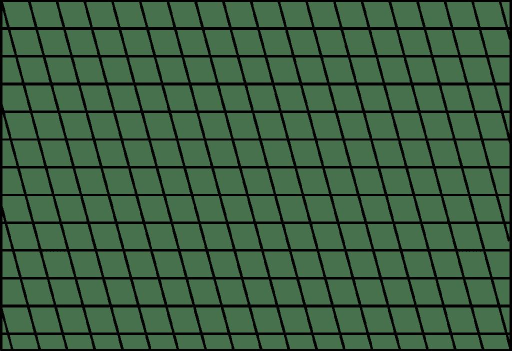 Diagramm verzogener Fadenlauf