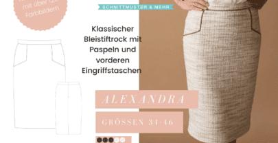 Schnittmuster Bleistiftrock Alexandra