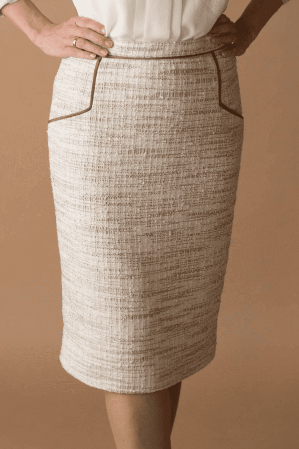 Schnittmuster Bleistiftrock-eckige-taschen-paspeln