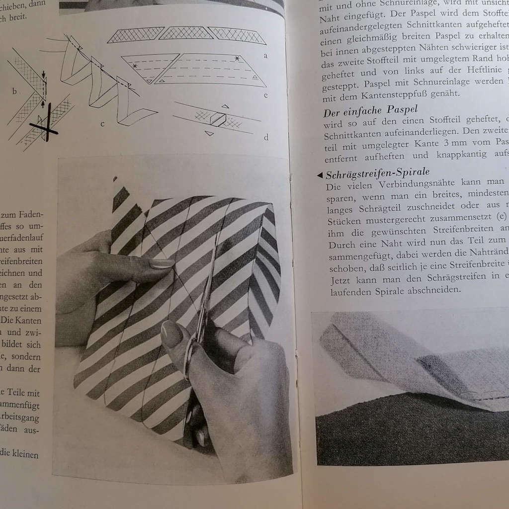 Schrägstreifen-Spirale in Schneide Selbst von Liselotte Kunder
