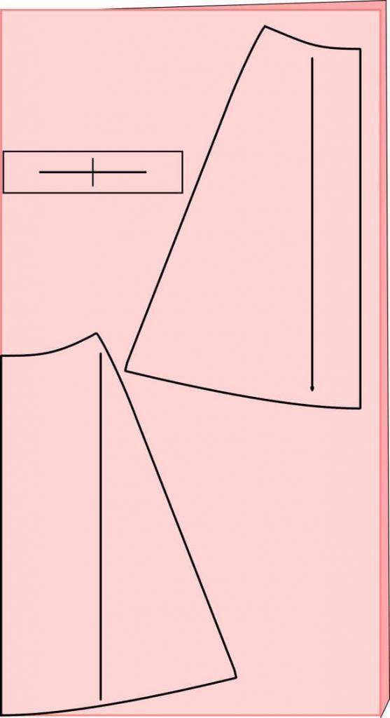 Schnittmuster auflegen mit Musterrichtung