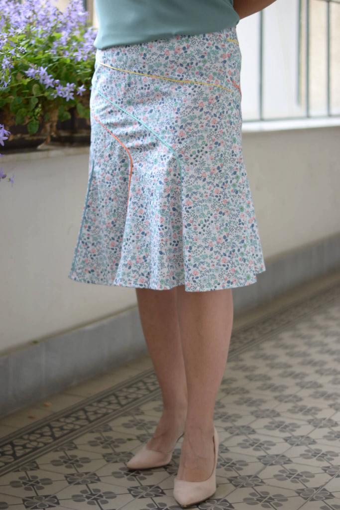 Sommerrock mit Teilungsnähten Schnittmuster